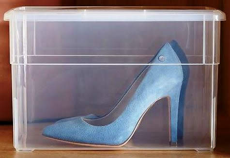 Our Tall Shoe Box, also available in other sizes. Containerstore.com.
