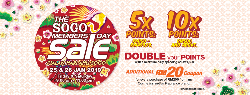 The Sogo Members' Day Sale - ShoppingNSales by ShopSavee