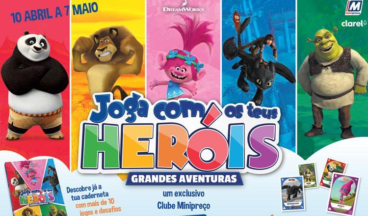 Joga com os teus heróis nas lojas Minipreço e Clarel