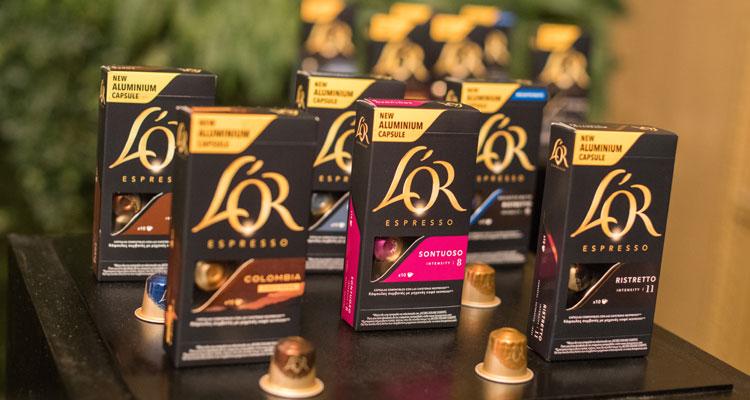 Novas cápsulas de café em alumínio L'Or Espresso em 6 variedades
