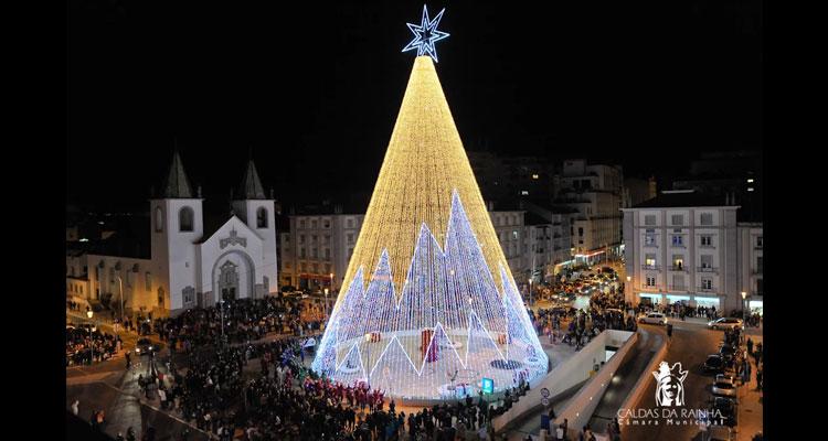 3,5 milhões de lâmpadas no Natal das Caldas da Rainha