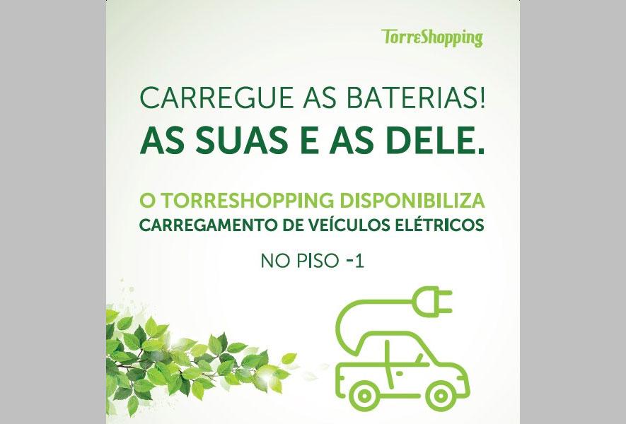 TorreShopping inaugura ponto de carregamento gratuito de veículos elétricos