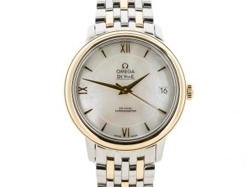 Preowned Omega De Ville Prestige Ladies Two Tone
