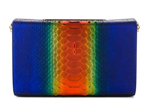 Christian Louboutin Vanite Python Rainbow Bag