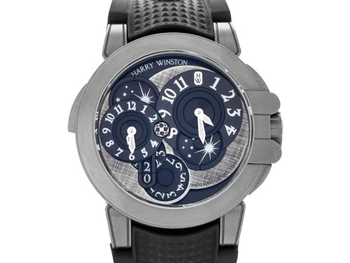 Harry Winston Ocean Dual Time Monochrome Watch