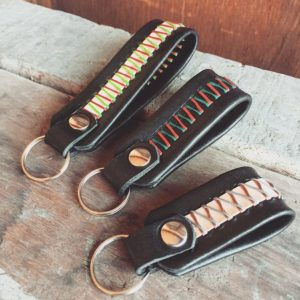 handmade italian leather keychain