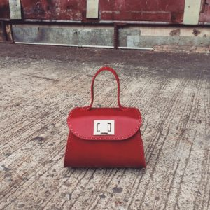 venezia top handle bag with flap