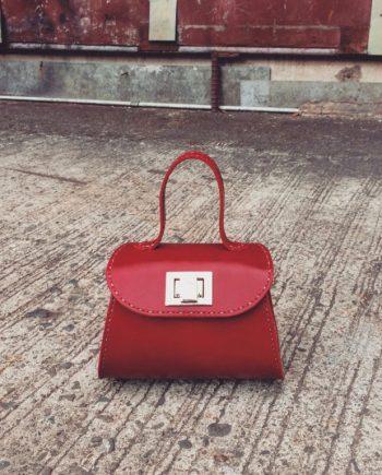 venezia top handle bag with flap