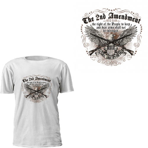 The 2nd Amendment - Crossed Rifles T-Shirt