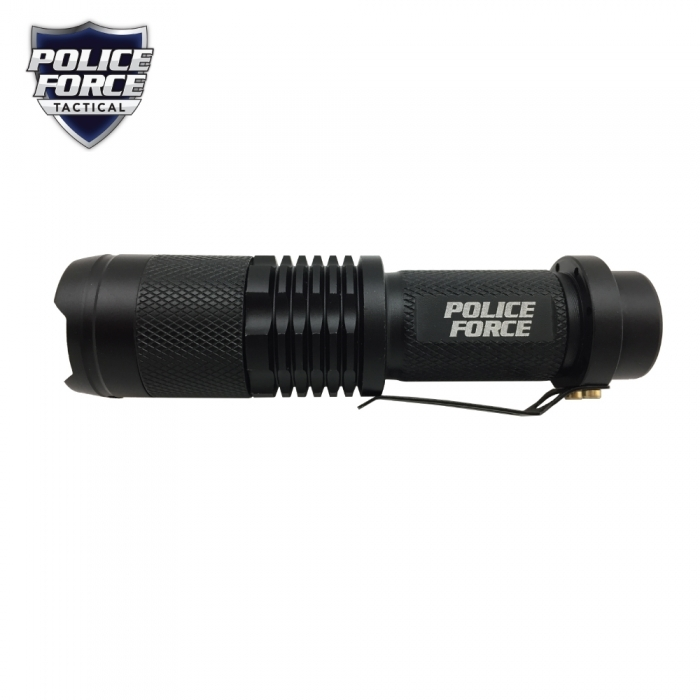 Police Force Tactical T6 LED Zoom Flashlight