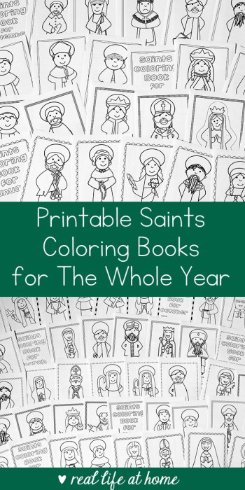 Saints Coloring Books for the Whole Year | Real Life at Home
