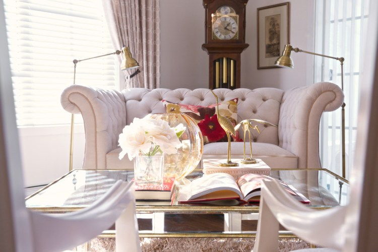 10 Gorgeous Nude And Blush Pink Living Spaces Shop Room Ideas