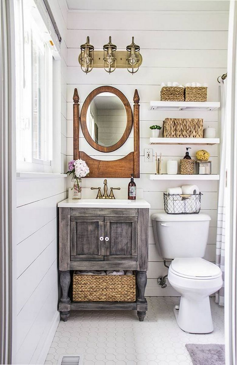 8 Mind Blowing Small Bathroom Makeovers (Before and After ... on Small Apartment Bathroom Storage Ideas  id=59841