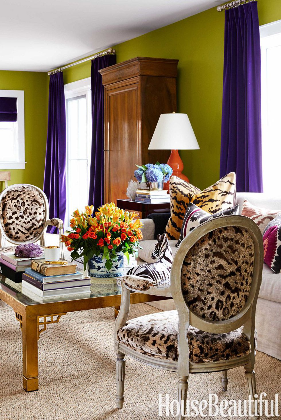Green Living Room Leopard Tulip Oval Chairs Living Room