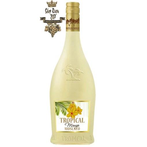 Tropical Mango Moscato khi nhìn sẽ thấy có màu vàng rơm nhạt. Rượu mang hương thơm từ trái nho Moscato và thịt trái xoài của miền nhiệt đới