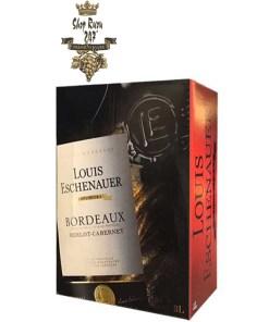 Vang Bịch Luis Eschenauer Bordeaux 3L là dòng vang bịch được đánh giá cao về chất lượng, mà giá cả rất phải chăng