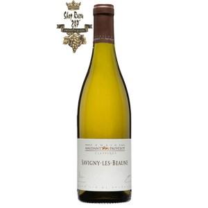 Vang Pháp Domaine Maldant Pauvelot Savigny Les Beaune 2012 khi nhìn sẽ thấy có màu vàng rơm đẹp mắt