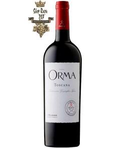 Orma khi nhìn sẽ thấy có màu hồng ngọc với ánh màu ngọc thạch lựu. Rượu mang hương thơm độc đáo của trái cây màu đỏ., đen được tăng cường thêm bởi gia vị ngọt