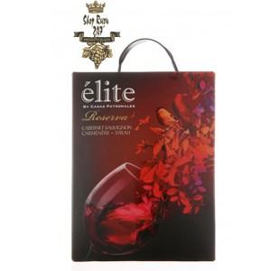 Vang bịch Rượu Vang Bịch Elite Casas Patronales Reserva Cabernet Sauvignon 3L thích hợp để thưởng thức trong các bữa tiệc