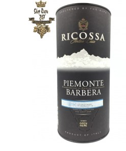 Vang Bịch Ý Ricossa Bag 3L khi nhìn sẽ thấy có màu đỏ tím. Rượu mang hương thơm của các loại trái cây như việt quất