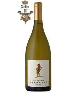 Rượu Vang Pháp Chateau Arrogant Limoux Trắng khi nhìn sẽ thấy có màu vàng óng. Rượu mang mùi hương đậm và phức hợp