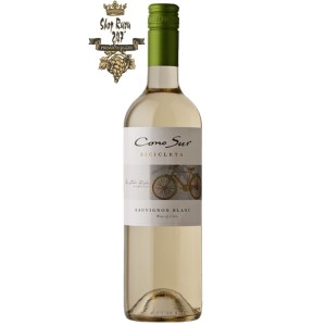 Rượu Vang Chile Cono Sur Bicicleta Sauvignon Blanco khi nhìn sẽ thấy có màu đỏ hồng. Rượu mang hương thơm của loại quả như mận