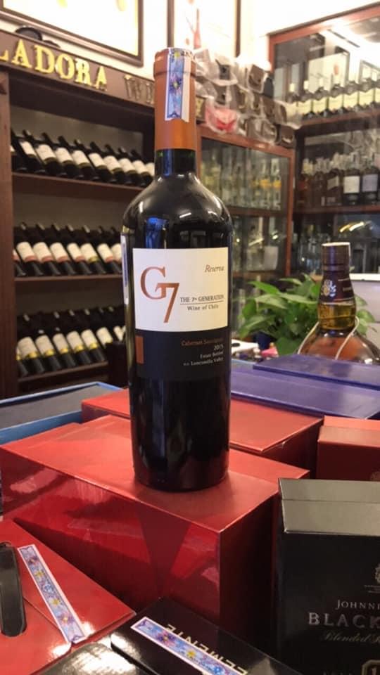 Bán rượu vang g7 cabernet sauvignon tại Vĩnh Phúc giá tốt nhất