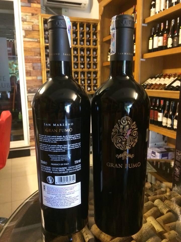 Bán rượu vang Ý Gran pumo tại Quảng Nam giá Tốt