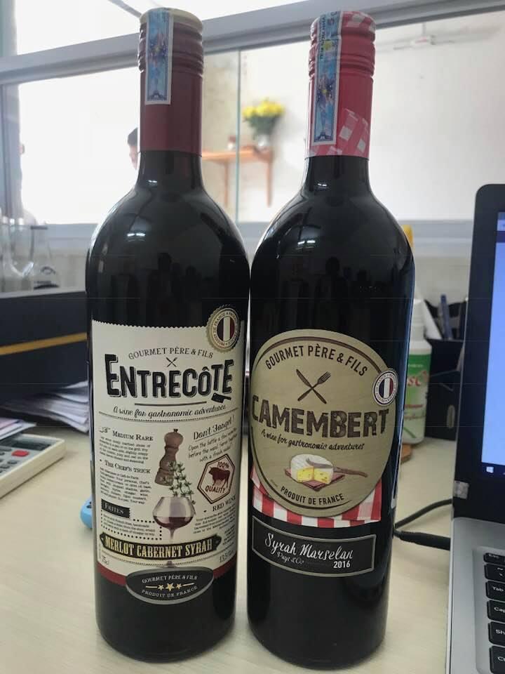 Bán rượu Vang Pháp Entrecote Melot Cabernet Syrah tại Quảng Bình ưu đãi nhất
