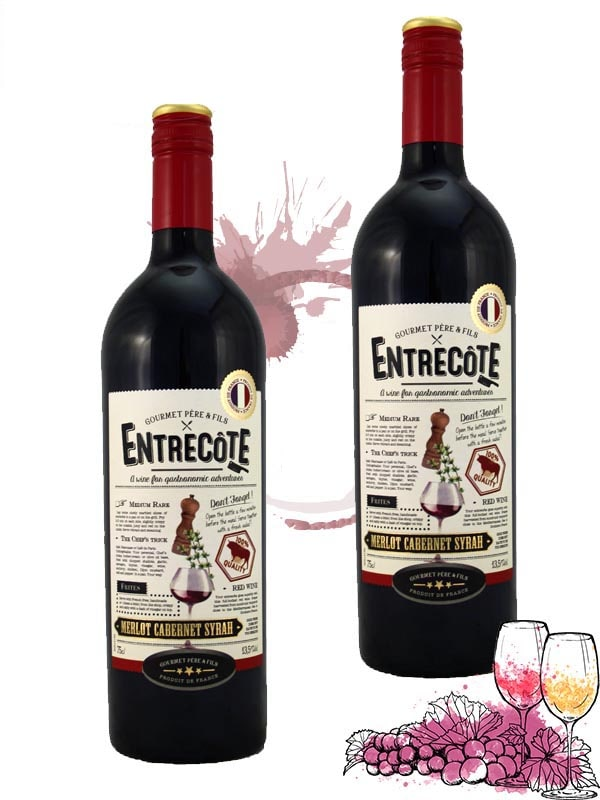 Nhà cung cấp rượu vang Entrecote Melot Cabernet Syrah tại Hà Nội giá rẻ