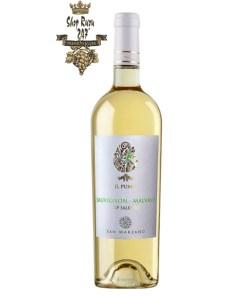 Rượu Vang Ý IL Pumo Sauvignon Malvasia có mầu vàng ánh xanh. Hương thơm của trái cây nhiệt đới , cam quýt, thảo mộc . Vị chua sống động, tươi mới hòa quyện với khoáng chất