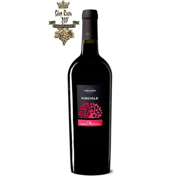 Rượu Vang Ý Visciole Velenosi có màu đỏ ruby sâu đẹp mắt. Hương thơm của hoa tím và quả chín cùng ghi chú cảu các loại trái cây mầu đỏ.