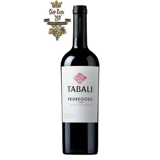 Vang Chile Pedregoso Syrah Gran Reserva Tabalilà một trong những chai rượu vô cùng được yêu thích. Nó được nhiều nhà phê bình đánh giá rất cao
