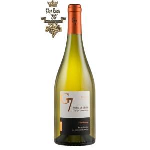 Rượu Vang Trắng G7 Reserva Chardonnay có mầu vàng ánh xanh nổi bật. Hương thơm của các loại hoa quả như đào trắng, chuối xanh