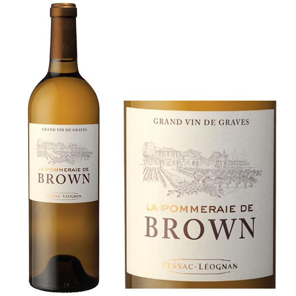 Vang Trắng Chateau Brown Blanc Pessac Leognan có màu vàng rơm đẹp mắt. Hương thơm là sự kết hợp của chanh, bưởi, gia vị