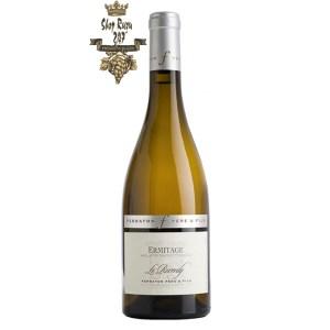 Rượu Vang Pháp Trắng Ermitage Le Reverdy Ferraton Pere & Fils có mầu vàng rơm tươi sáng. Hương thơm của quả chín như đào vàng, mơ