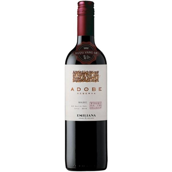 Rượu Vang Chile Emiliana Adobe Malbec