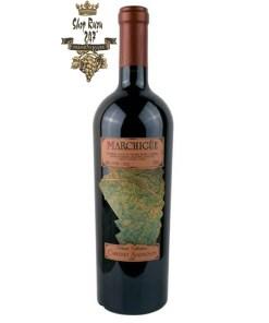 Rượu Vang Chile Đỏ Marchigue Vinedos có mầu đỏ đậm sâu ánh lên sắc xanh và cấu trúc mạnh mẽ tập hợp đầy đủ mùi vị