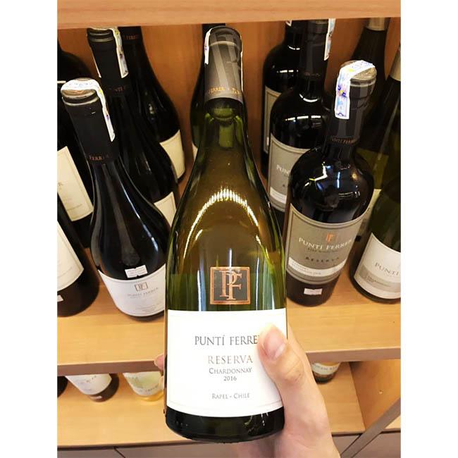 Rượu Vang Chile Punti Ferrer Chardonnay