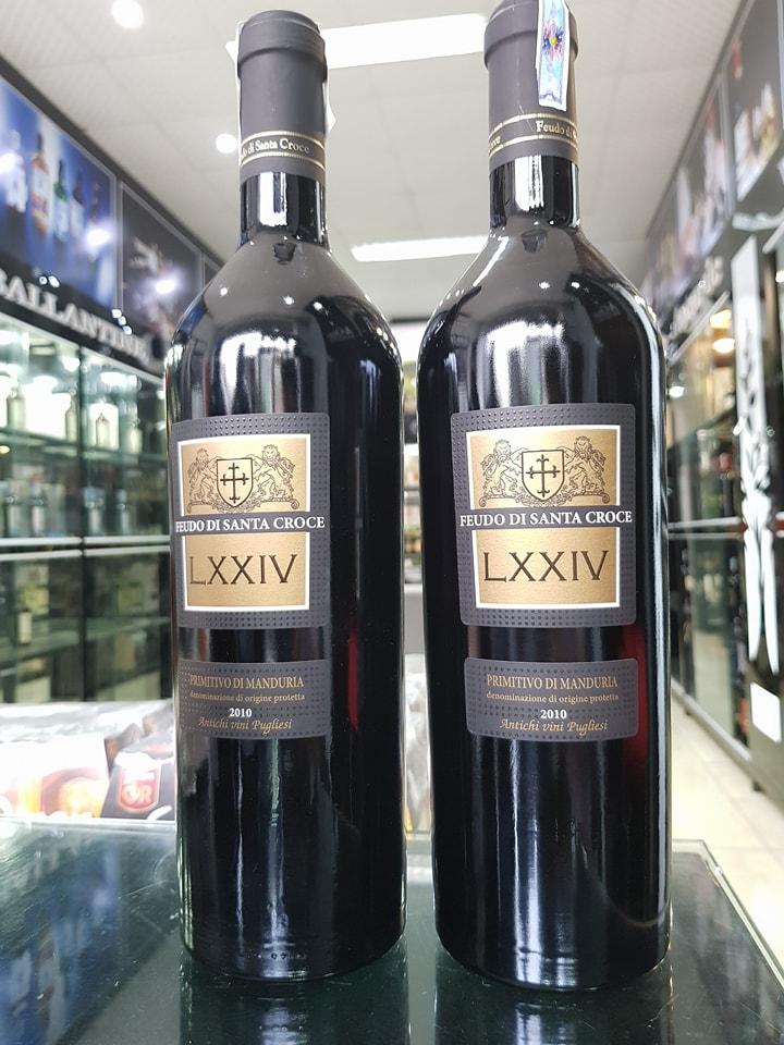 Rượu Vang Đỏ Celebration LXXIV Primitivo di Manduria có mầu đỏ nổi bật. Hương thơm phức tạp của các loại gia vị cùng gợi ý của trái cây chín đỏ, cacao.
