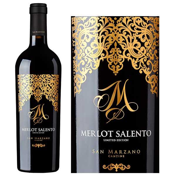 Nhìn Cận Cảnh Chai Rượu vang đỏ M Merlot Limited
