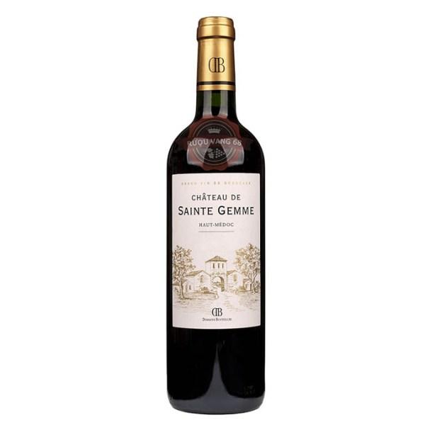 Rượu Vang Pháp Chateau Desainte Gemme Haut Medoc Cru Bourgeois