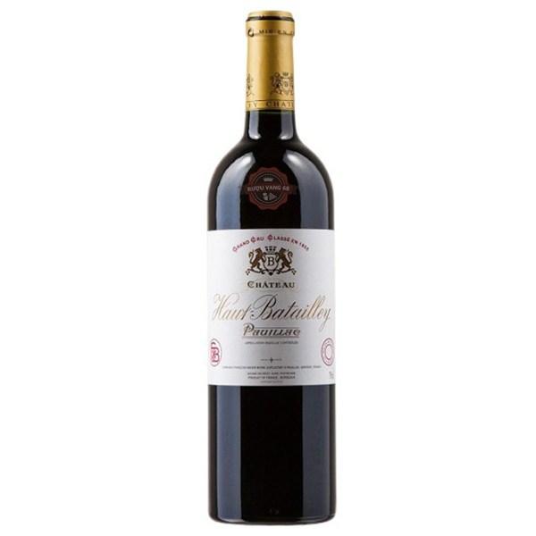 Rượu Vang Pháp Chateau Haut Batailley Pauillac Bordeaux 2013