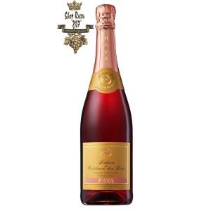 Rượu Vang Ý Bava Malvasia Rose Spumante DOC có mầu đỏ anh đào sủi tăm đẹp mắt, Bava Rose Spumante chìm đắm trong hương hoa hồng, dâu tây,