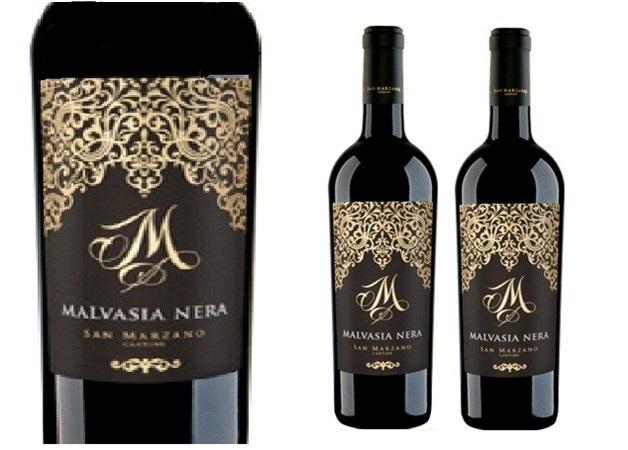 Chi tiết thiết kế nhãn chai Rượu Vang Ý Đỏ M Malvasia Nera Salento IGP