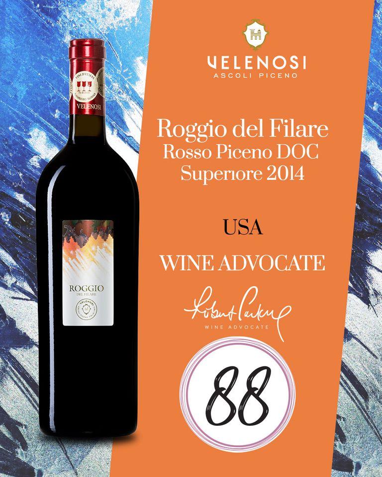 Rượu Vang Ý Roggio Velenosi có màu đỏ hồng hào nhoáng. Hương thơm của trái cây mạnh mẽ với ghi chú của mứt, quả mọng đen, anh đào.