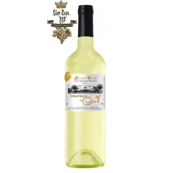 Rượu vang trắng Château M Gran Reserva Sauvignon Blanc 2019 có vị của quả sung cùng các loại trái cây nhiệt đới như chuối và xoài.Rượu vang trắng Château M Gran Reserva Sauvignon Blanc 2019 có vị của quả sung cùng các loại trái cây nhiệt đới như chuối và xoài.