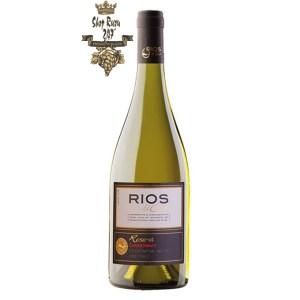 Vang Chile Rios Reserva Chardonnay có mầu vàng tươi mới. Nổi bật với hương thơm của các loại trái cây. Hương vị của dứa