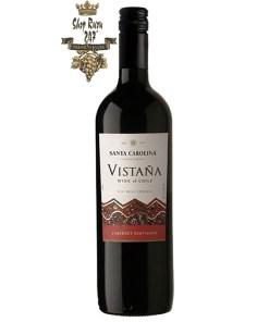 Chile Vistana Cabernet Sauvignon có mầu đỏ tươi. Rượu vang chín, toàn thân với hương vị trái cây nho đen đậm đặc và các ghi chú cassis phong phú, với tannin mượt
