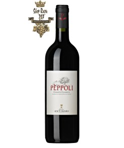 Rượu Vang Đỏ Antinori Peppoli Estate Chianti Classico DOCG Riserva có màu đỏ ruby và có mùi như anh đào cùng với sô cô la, vani đến từ sự lão hóa bằng gỗ